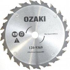 Diskas žolės su kietm. 250mm 20T 25.4mm