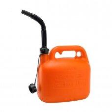 Kanistras kurui 5L plastikinis oranž.